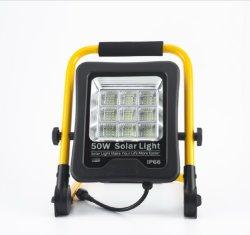 Высокое качество для использования вне помещений стадиона кемпинг промышленных IP65 водонепроницаемый 50W 100 Вт 200Вт портативный светодиодный индикатор солнечной энергии прожектор