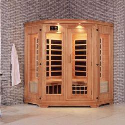 Meistgekaufter niedriger Emf-Kohlenstoff-Heizungs-weites Infrarot-Sauna-Eckraum