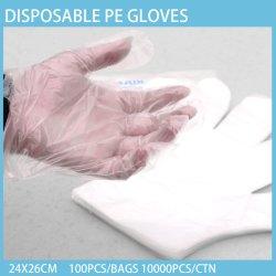 중국 제조자는 부엌 처분할 수 있는 PE 장갑 명확한 색깔 처분할 수 있는 장갑을 도매한다