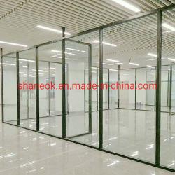 Mayorista Shaneok Vidrio Cristal Mampara de Oficina con el perfil de aluminio