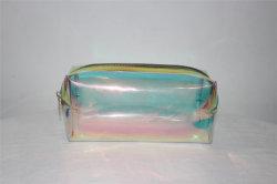 Fornecido de Fábrica Claro Makeup Bag Cosméticos holográfico bag bolsa para cosméticos, produtos de higiene pessoal, viagens, uso diário