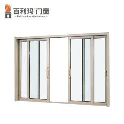 Современный стиль алюминиевые раздвижные двери для сада с двойными стеклами низкий E стекла