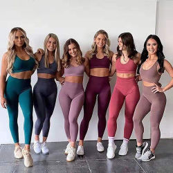 نساء رياضات لياقة يلبّي عرضيّ رياضة لباس 2 قطعة تمرين بدنيّ نساء محدّد ملحومة [جم] نظام يوغا لباس