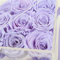 Conservas de rosas flor rosa caja de acrílico de regalos para novias, mamá, y su