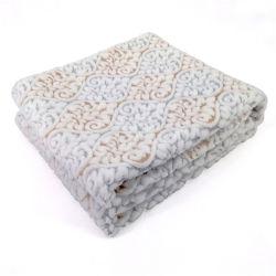 Veludo de manta de lã jacquard atirar com Damasceno