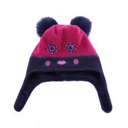 적은 Girl 및 Baby Flower Smiley Sherpa Lined Fleece Hat