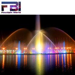 Personnalisé de l'eau à grande échelle de la musique de danse fontaine avec lumières RVB