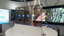 55 LGのパネル700nitsスマートなTVが付いているインチOLEDの透過表示