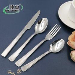 La cuchilla de acero inoxidable de 24 PC Cuchara horquilla cucharadita cena