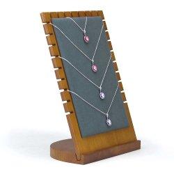 Heißer Verkaufs-hölzernes Form-Geschenk-Halsketten-Schmucksache-Bildschirmanzeige-Tellersegment für Bildschirmanzeige
