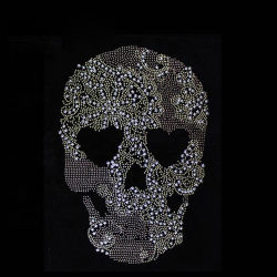 Groothandel Skull Transfer Strass Strass Strass voor Garment