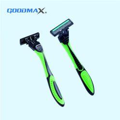 Navaja de afeitar desechables de la belleza de la hoja de tres
