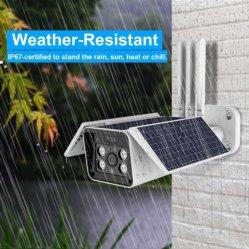 Câmara de segurança da energia solar com bateria recarregável LG HD 1080P Sensor PIR à prova de visão nocturna de detecção de movimento Áudio Bidireccional 4G LTE