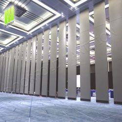 Isolamento de som dobra móveis deslizando parede divisória com Aluninum Via para Convention & Exhibition Centre