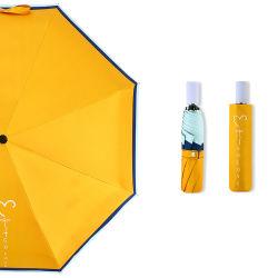 Ombrello giallo a 3 piega omaggio con logo UV Proof Love Con UV