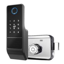 قفل الباب الذكي قفل الباب الذكي قفل الأبواب باستخدام القفل البيومتري قفل الأبواب بالبصمة