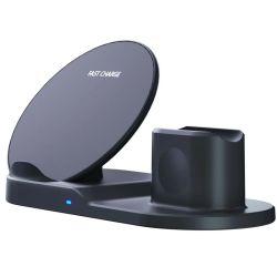 High-End Fashion 3in 1 Technologie der drahtlosen Schnellladung für Mobiltelefon Uhr und Kopfhörer Wireless Charger Neues Produkt tragbar
