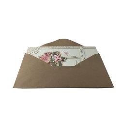 봉투를 가진 주문 Handmade 새해 카드 디자인 최고 판매 결혼식 권유 카드 축 생일 카드