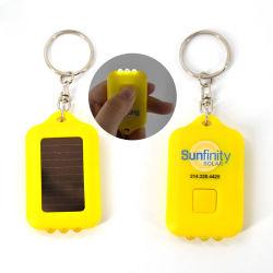 Le logo OEM de promotion de la marque Linli Imprimer Mini 3 LED Lampe torche rechargeable solaire trousseau, Keyholder lumière, des porte-clés lampe torche