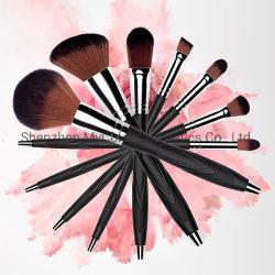 Alta Qualidade espelho cosmético Ajuste da escova de pêlos sintéticos vermelhidão sobrancelhas Pincel de lábios