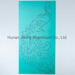 Commerce de gros bâtiment enveloppent/Façades les matériaux de revêtement mural en aluminium solide unique perforé de panneaux d'écran perforé