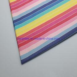 Yarned teñido populares 100% Algodón Shirting tela con rayas de colores