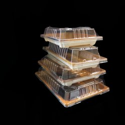 Jeu de quatre boîtes d'emballage de Sushi sushi avec couvercle de bac