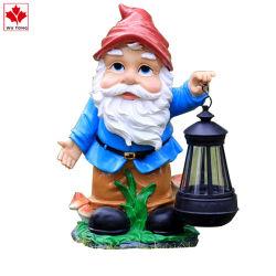 Hotsale Kunstharz Gnome Figur mit Solar Light Garten Dekoration