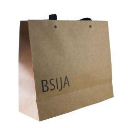 Vêtement de Mode personnalisé cadeau de promotion a procédé à l'emballage du papier recyclé un sac de shopping