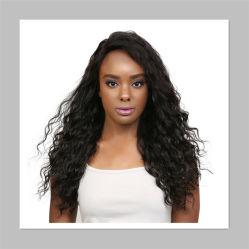Sophti profunda del cabello el cabello rizado peluca para las mujeres de la máquina de aserrado frontal encaje peluca cabello humano.