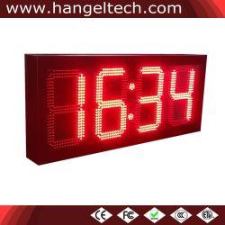 Haute luminosité LED étanche de plein air numérique Affichage horloge murale (8 pouces Chiffre)