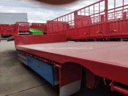 3 Eixo 60-100Payload toneladas China Lowbed HOWO Semitrailer para transporte de carga do veículo