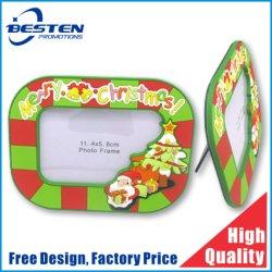Logo de Noël 3D personnalisé à la promotion des cadeaux photo frame en PVC souple