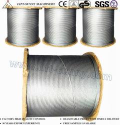 Câble en acier inoxydable 304/316 Aéronefs Wire Rope 7 X 7