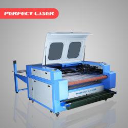De Scherpe Machine van de Graveur van de Laser van Co2 van de Doek van het leer voor Verkoop met het Auto het Voeden Systeem