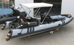 Barco Haoyu 19ft 5.8m costillas inflables deporte barco barco de pesca barco Rib580b PVC Hypalon Barco