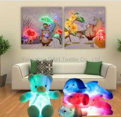 熱い2PCSは光ファイバ(ないLED)明るい絵画遠隔コントローラが付いている現代ホーム装飾の絵画をセットする