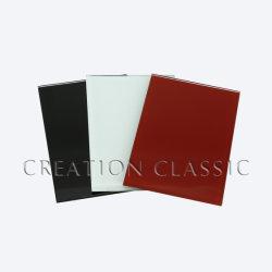 4/5/6mm detrás pintadas de blanco/negro/rojo el color en vidrio Ultra Clear