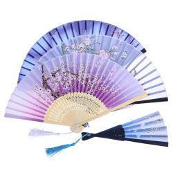 Шелк вентилятор Custom бамбуковой ткани ручной вентиляторы