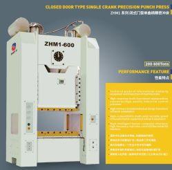 600 la tonne côté droit machine presse mécanique double point de perforation
