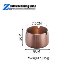 Usinés CNC Aluminium Cuivre unique en acier inoxydable de métal de nouveauté Cool cendriers Vintage personnalisé