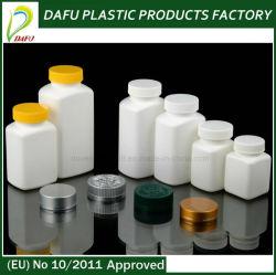 Botella de plástico de plástico PE Farmacéutica Salud botella con tapa de plástico de botellas de plástico