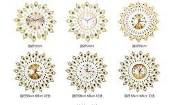 Домашняя оформление Crystal переливчатый зеркала Настенные часы