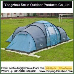 Reforçado removível destacável vedadas Big Camping tenda familiar com 3 Quartos