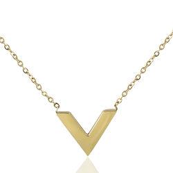 Collana Pendant della lettera placcata oro dell'acciaio inossidabile di modo dei monili delle signore