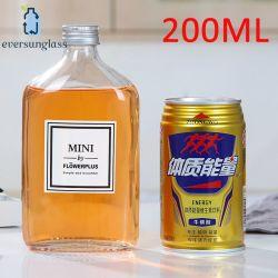 flaches Glas-Stab des Whisky-200ml liefert Eigenschaften der Flasche