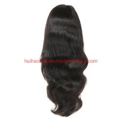 El Color Natural 100% Remy Virgen indio brasileño el pelo de cuerpo recto onda profunda onda frontal encaje peluca peluca de encaje completo