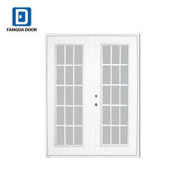 Fangda декоративные стекла вставлены дважды листовой металл двери