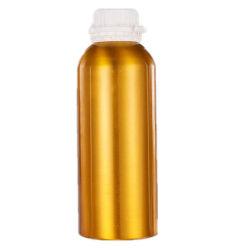 Fles van het Aluminium van de Olie 1000ml van de Rang van het Voedsel van de douane de Kosmetische Verpakkende Vloeibare met het Deksel GLB van het Aluminium van de Schroef