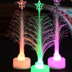 新年LED夜ライトを変更する光ファイバLEDの休日のDeco Compudaのクリスマスツリーカラー